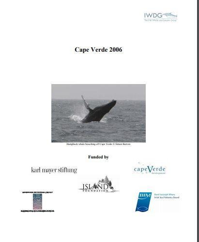 Cape Verde Humpback Expedition 2006 report